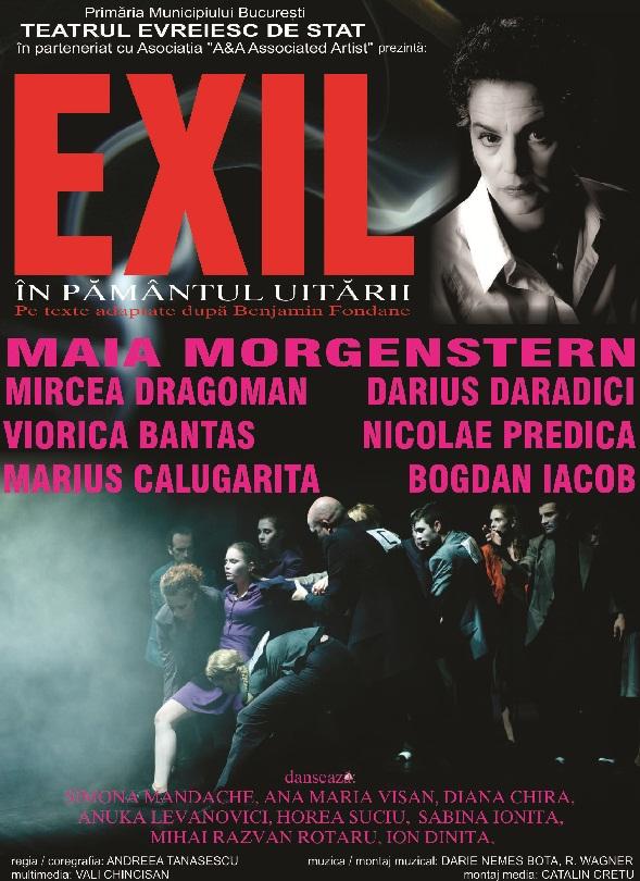 exil-in-pamantul-uitarii-maia-morgenstern-teatru-national-iasi-afis