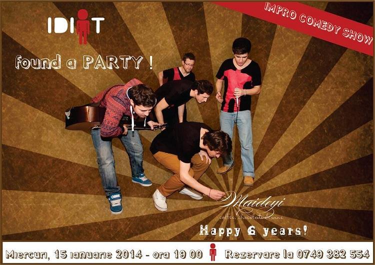 spectacol-aniversar-idiot-improvizatii-maideyi-impro-comedy-show-6-ani-2014-afis