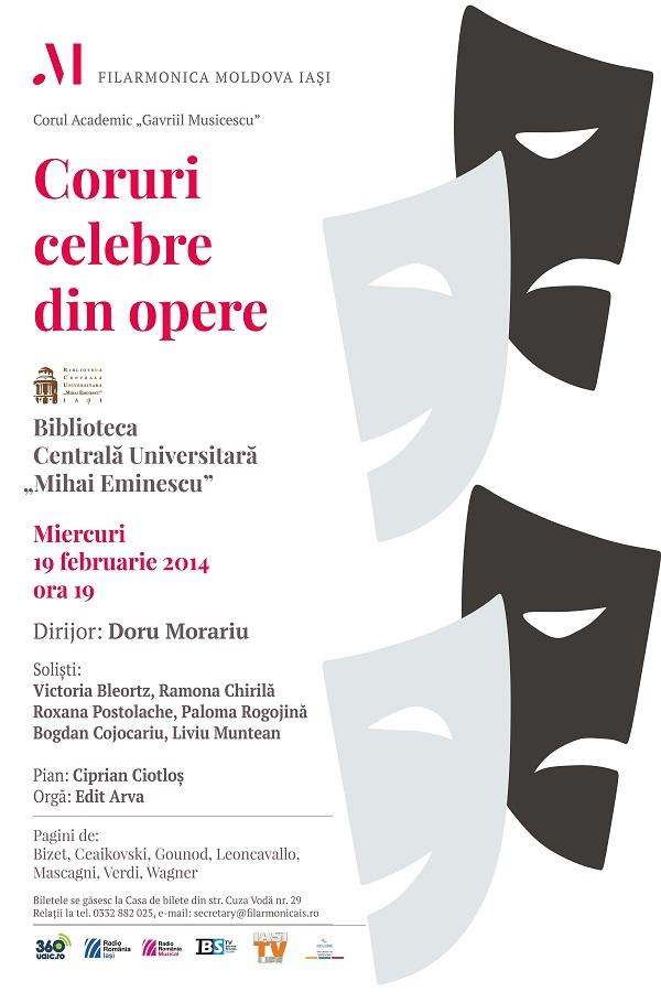 19 februarie 2014 filarmonica-iasi-coruri-celebre-din-opere-afis