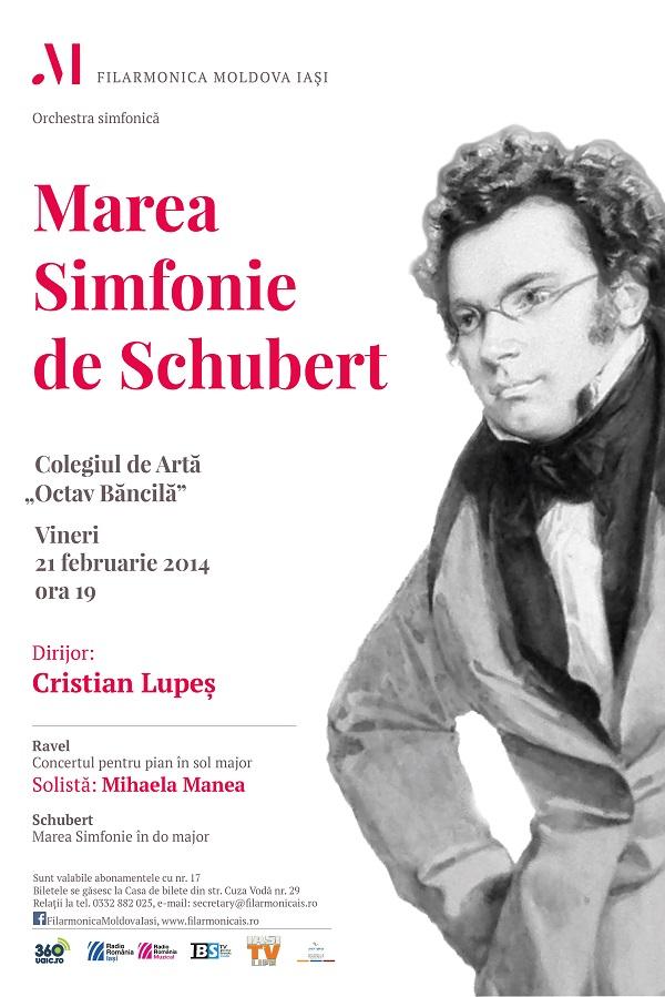 21 februarie 2014-filarmonica-iasi-marea-simfonie-de-schubert-afis