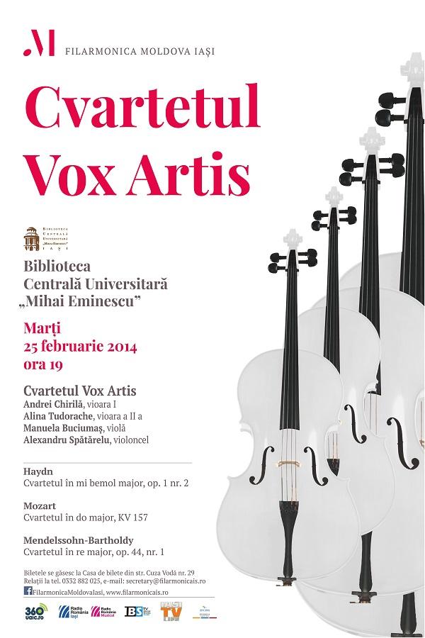 25 februarie 2014-filarmonica-iasi-cvartetul-vox-artis-afis