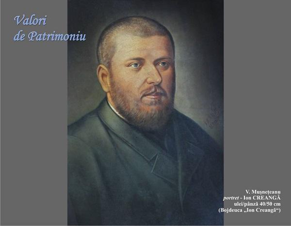 Ion Creanga - V. Museteanu - Portret - Valori de Patrimoniu foto