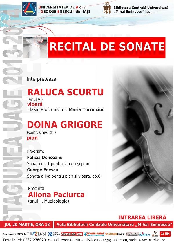 Recital sonate Raluca Scurtu