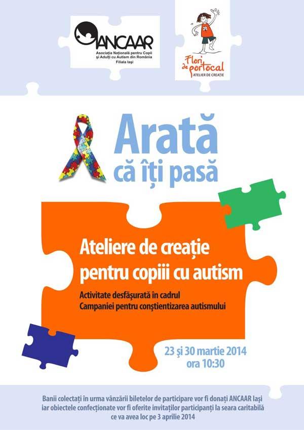 Ateliere de creatie cu si pentru copii cu autism