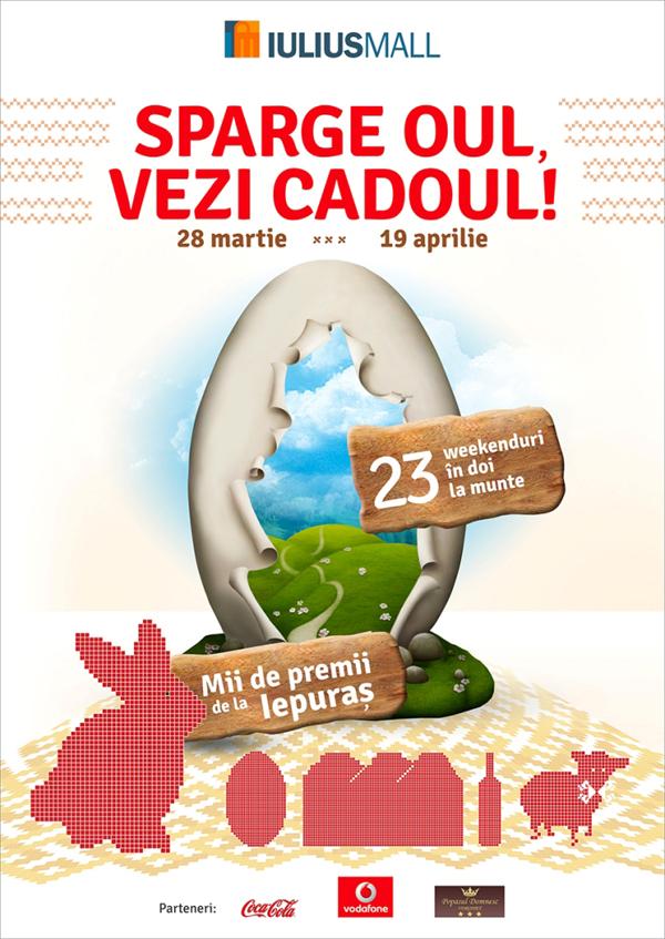 Iulius Mall - Sparge oul, vezi cadoul, concurs cu premii iasi