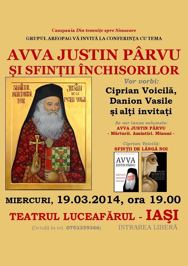 conferință-lansare de carte dedicată eroilor anticomuniști - afis 19 martie 2014