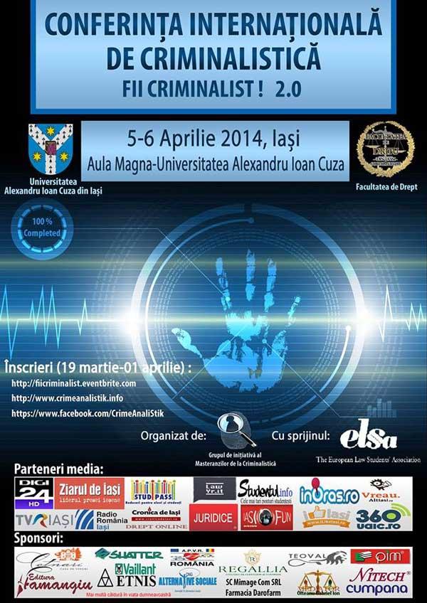 Conferința Internațională de Criminalistică FII CRIMINALIST! 2.0