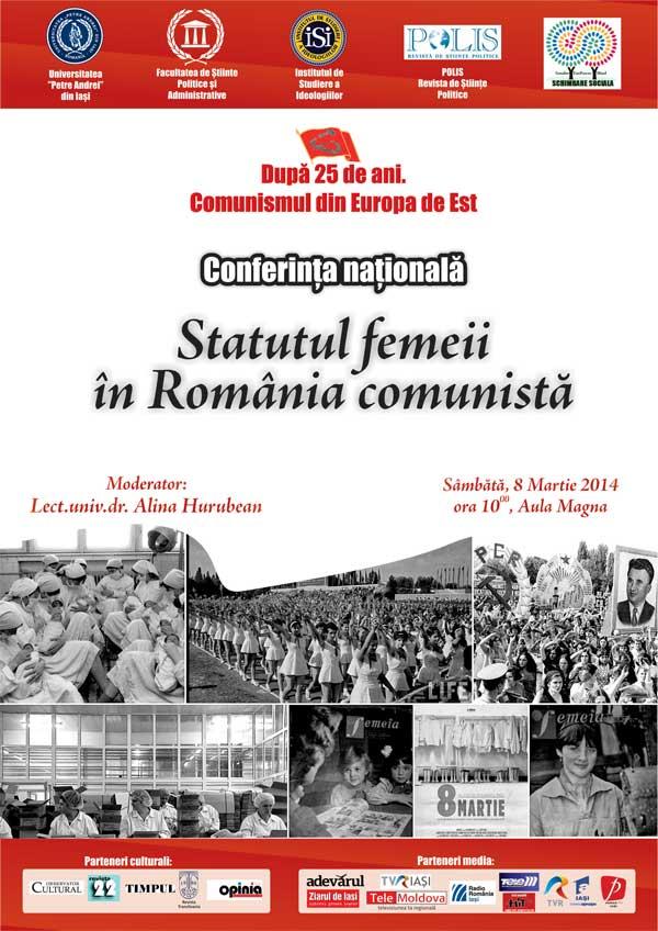 Conferinta Locul Femeii in societatea comunista