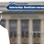 internship - realitatea europeana sansa romaneasca afis