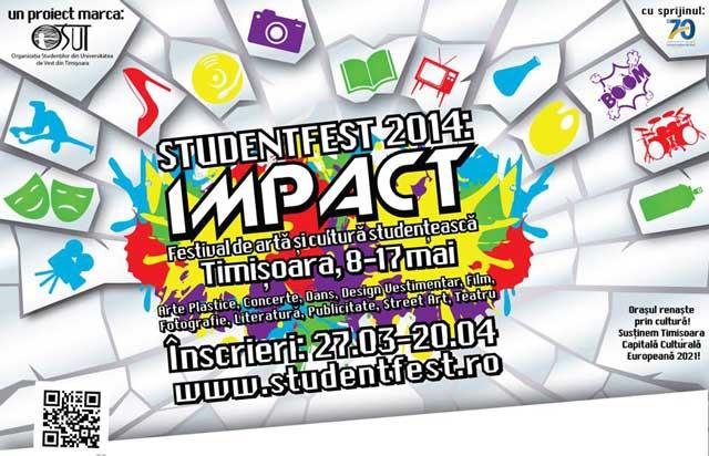 Afis Student Fest - inscrieri