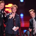 Conan O'Brien, Sam Claflin, Josh Hutcherson