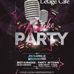 karaoke 3 aprilie l etage cafe afis iasi