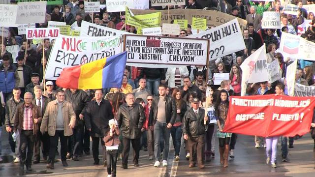 Protest impotriva exploatarii gazelor de sist - Barlad, 2012