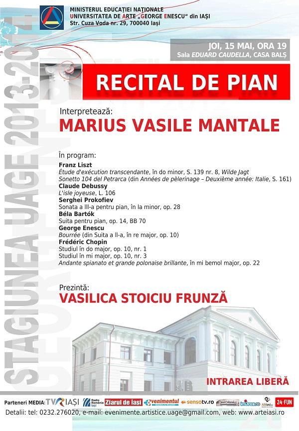 2014.05.15.Recital pian - afis iasi
