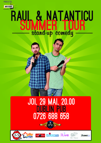 summer-tour-stand-up-comedy-dublin-pub-iasi-raul-natanticu-afis-2014
