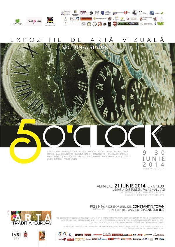 five-o-clock-expozitie-carturesti-palas-iasi-afis-2014