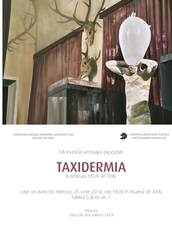 taxidermia-expozitie-afis-iasi-felix-aftene-2014