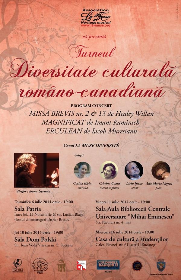 Concert coral susţinut de Corul La Muse Diversité