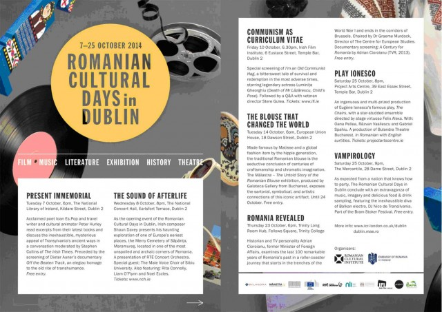 zilele culturii romane dublin