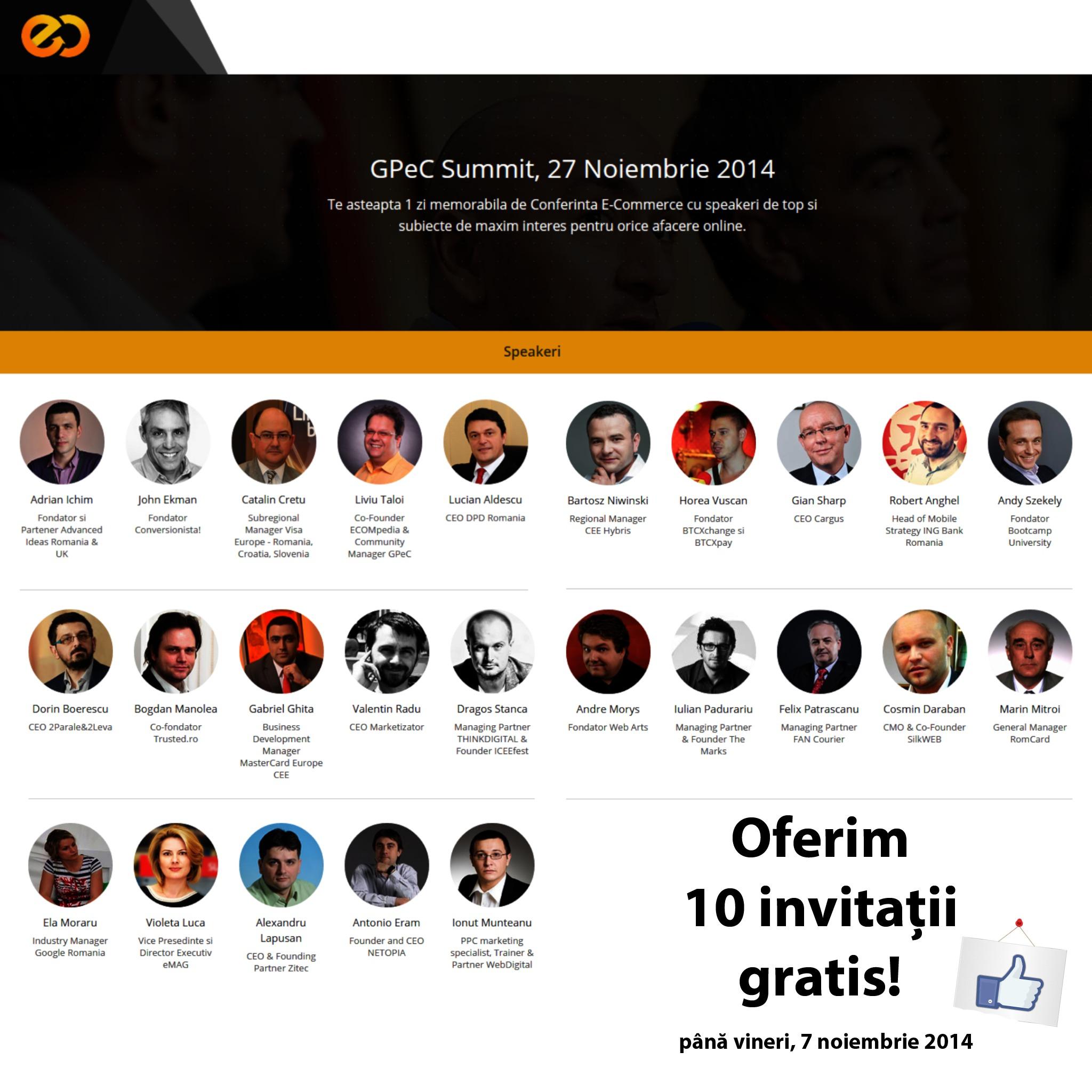 castiga 10 invitatii la gpec 2014