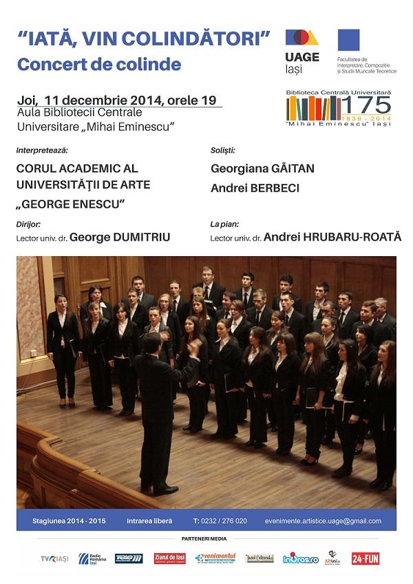 2014.12.11 Concert coral - BCU Iasi - Cor Academic afis