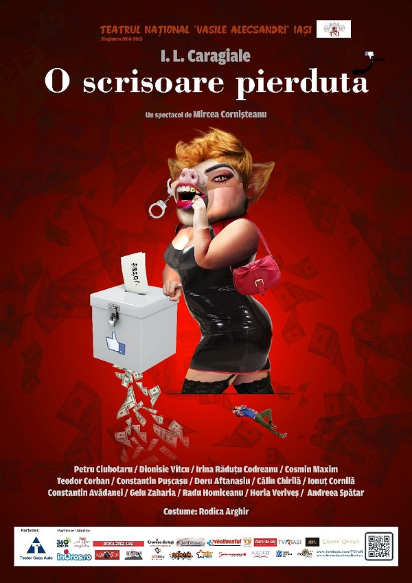 afis O SCRISOARE PIERDUTA-teatru-national-2015