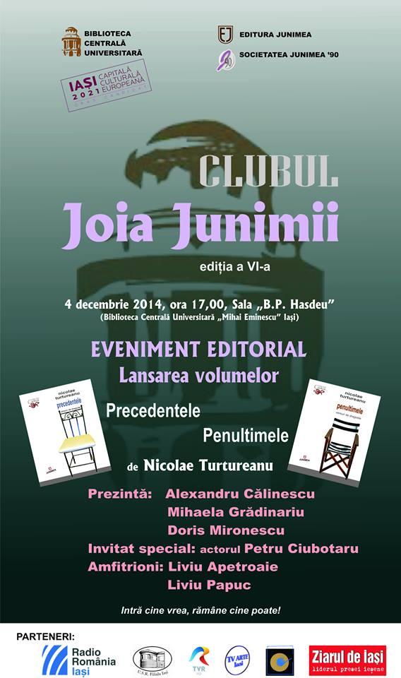 clubul joia junimii N Turtureanu afis-iasi-2014