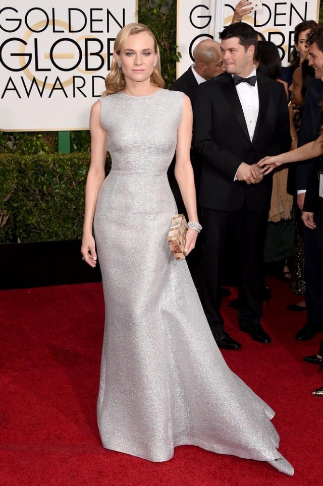 Nu ne asteptam la nimic altceva decat spectacol de la Diane Kruger iar in aceasta s-a ridicat, ca de obicei, la inaltimea asteptarilor. Frumusetea acestei rochii sta in simplitate. Exista si un pic de stralucire, dar siluerta eleganta este cea care o pozitioneaza pe Diane in topul celor mai bine imbracate vedete