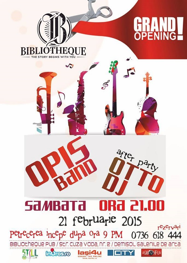 Grand Opening with Opis Band in Bibliotheque PUB IASI
