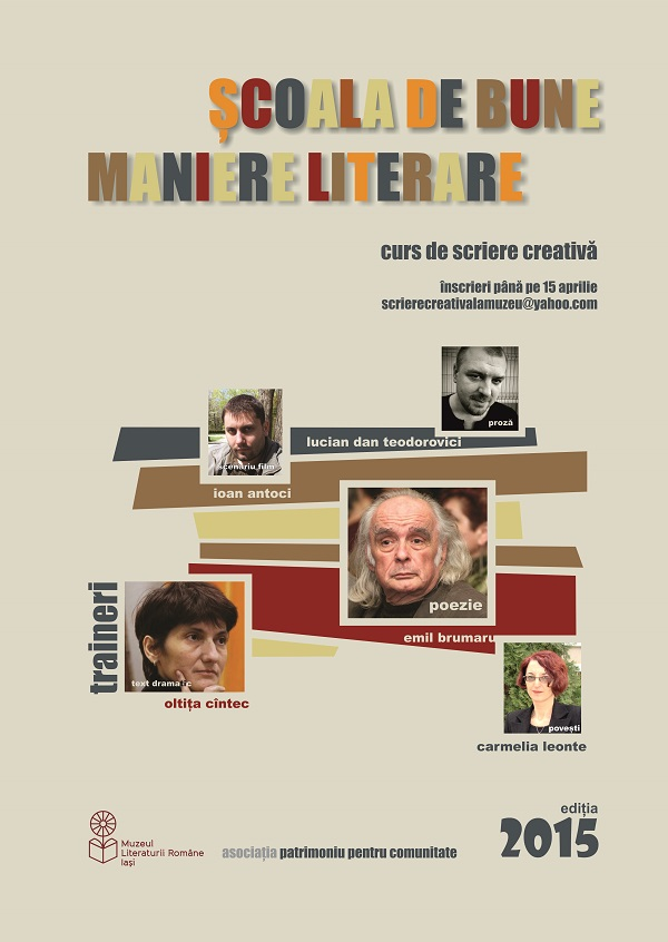 SCOALA DE BUNE MANIERE LITERARE