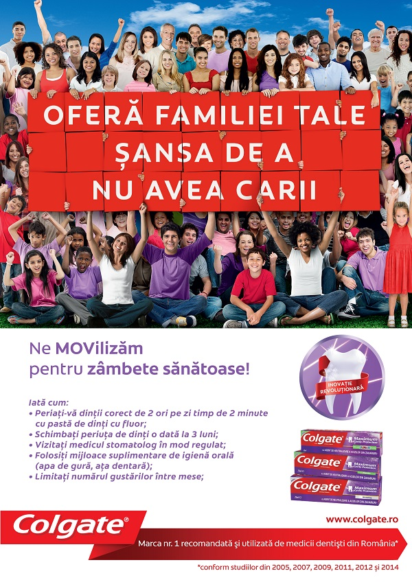 Colgate Luna Sanatatii Orale campanie romania afis