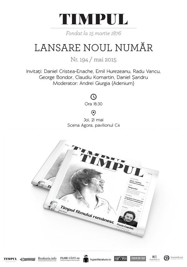LANSARE TIMPUL bookfest 2015 program
