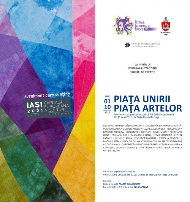 invitatie piata unirii piata artelor mai iunie 2015 pt WEB