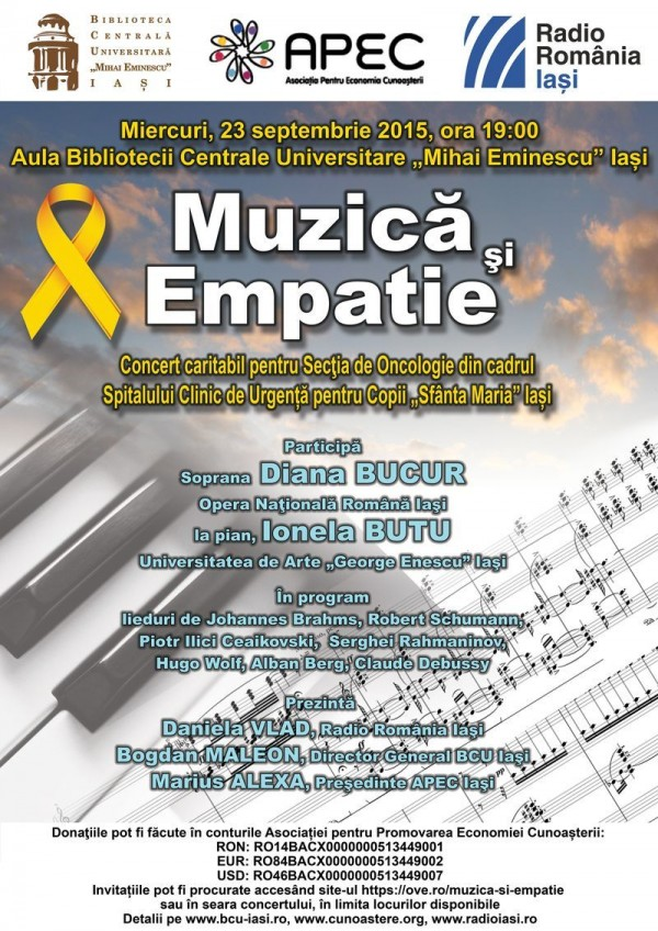Afis concert Muzica si empatie