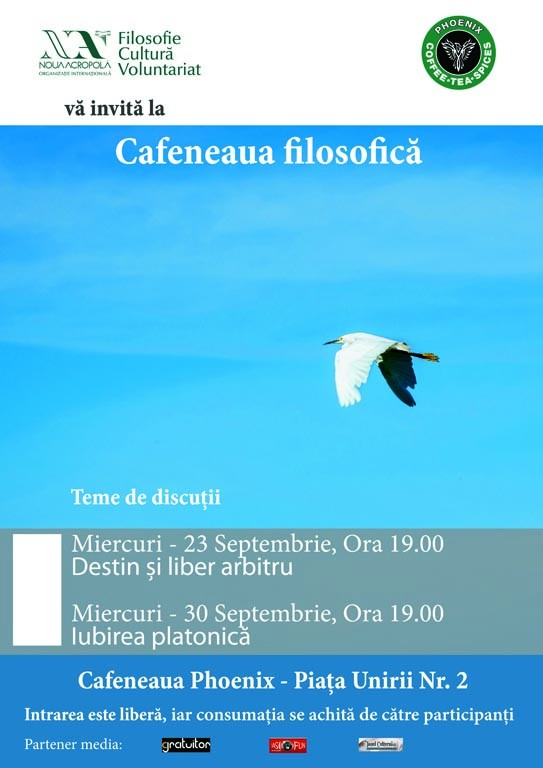 Cafeneaua filosofica - afis septembrie web