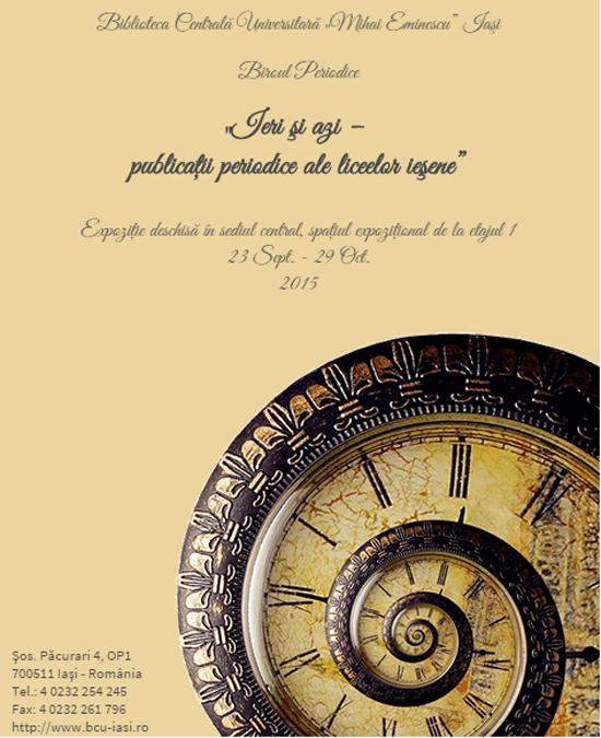 afis publicatii periodice ale liceelor iesene
