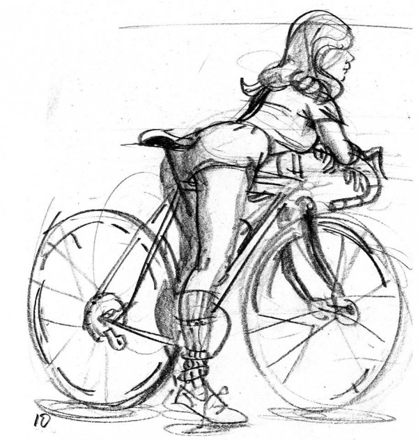 biciclist in pijamale