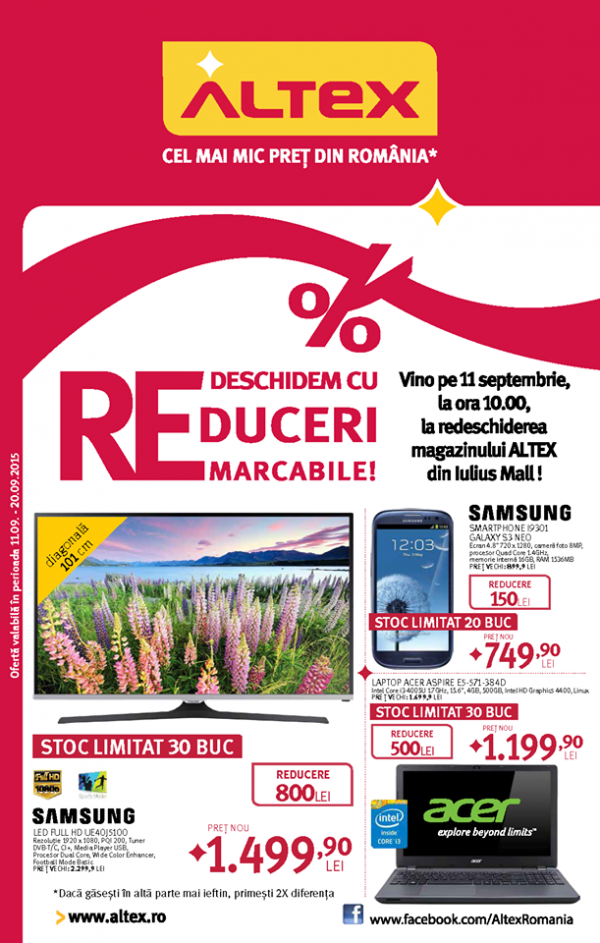 redeschidere altex