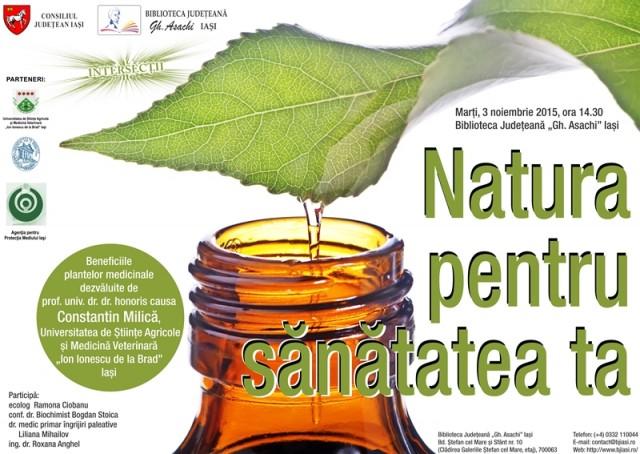 Afis Natura pentru sanatatea ta-Beneficiile plantelor