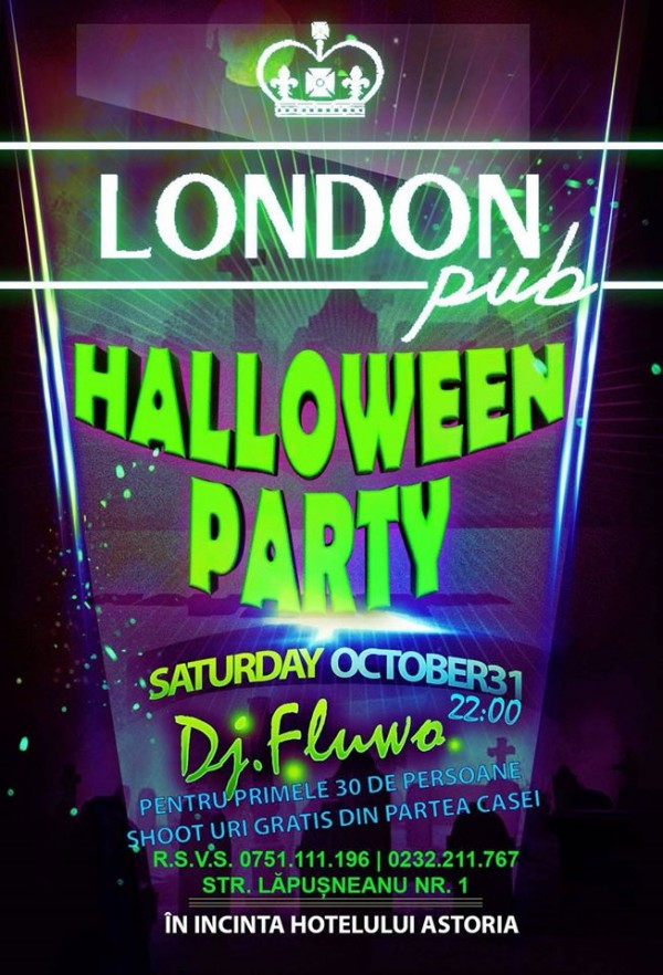 halloween party-london pub
