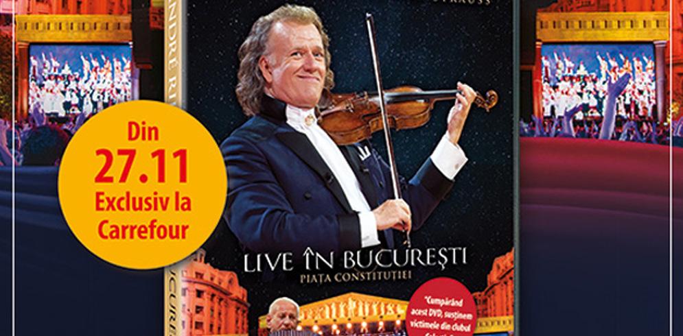 """DVD-ul artistului André Rieu – """"Live în București"""" –  disponibil exclusiv la Carrefour"""