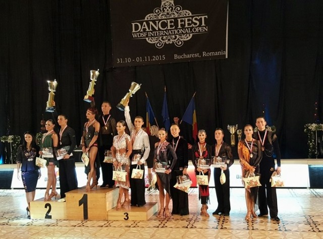 Podium Adult Latin Dance Fest WDSF International Open Bucharest
