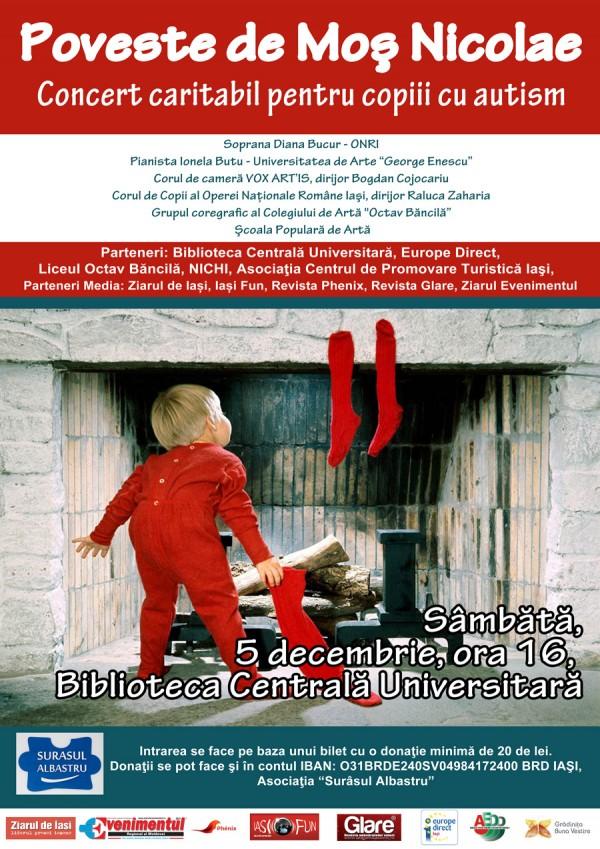 afis concert caritabil pentru copiii cu autism