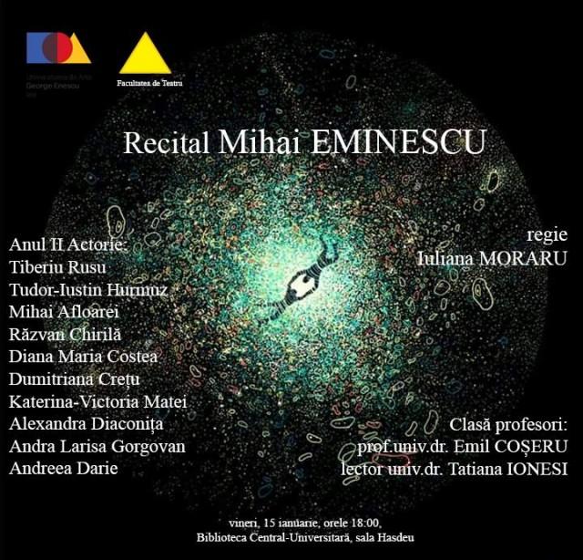 recital Mihai Eminescu