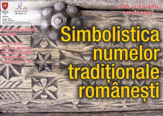 Afis Carte si traditie-Simbolistica numelor