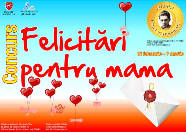 Afis Felicitari pentru mama-8-martie