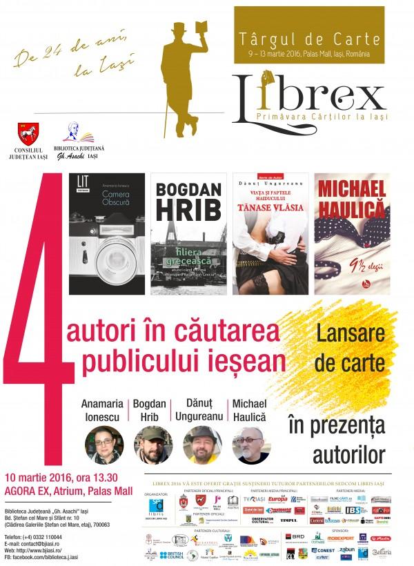 Afis 4 autori in cautarea LIBREX