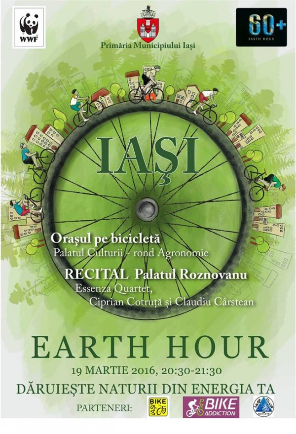 earth hour iasi 2016