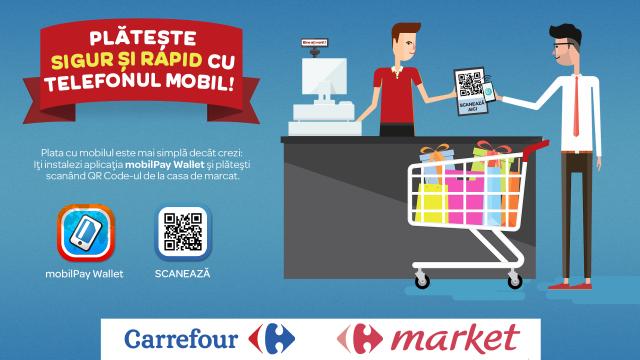 Foto mobilPay la Carrefour