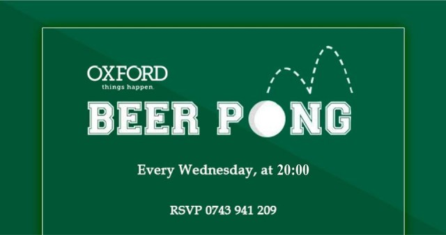 beer pong oxford